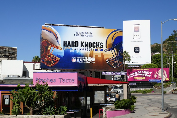 Hard Knocks LA 2020 billboard