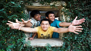 aamir khan, sharman joshi and r madhvan in film 3 idiots