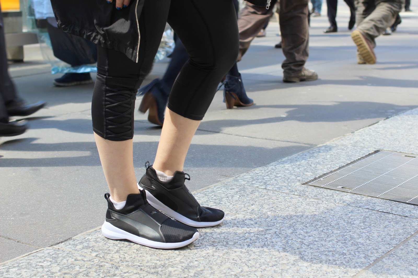 fe24d741df3d ... Rebel Mid Sneakers that I just picked up at Famous Footwear. They re  the perfect combo of street and chic