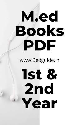 M.ED Books PDF Free Download