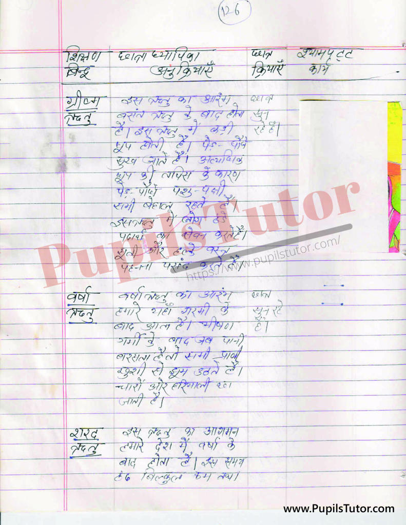 ritu par Lesson Plan for BEd and DELED