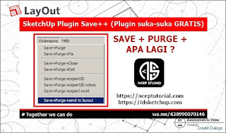 Plugin/Extension SketchUp Save++ Versi 3