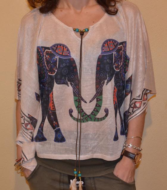 Blusa print elefantes de Mais Moda