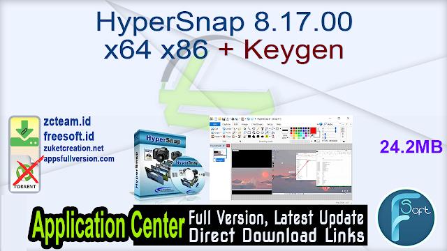 HyperSnap 8.17.00 x64 x86 + Keygen_ ZcTeam.id