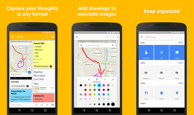 Google Keep Note Taking App For Android