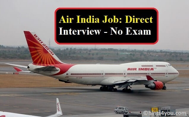 Air India Recruitment for Operation Agent: