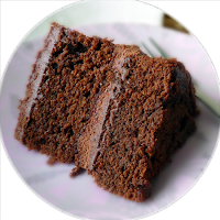Slice of Moist Gluten-free Chocolate Cake