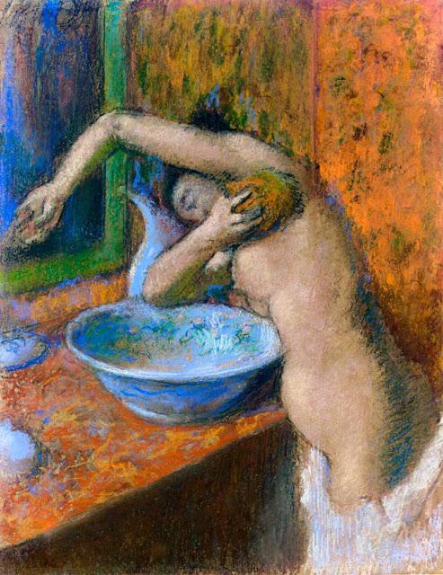Эдгар Дега - Женщина за туалетом (1892)