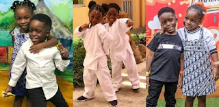 kay's report: Friendship Goals: Checkout Davido's Daughter And Tiwa Savage's Son Moments Together. (Photos)