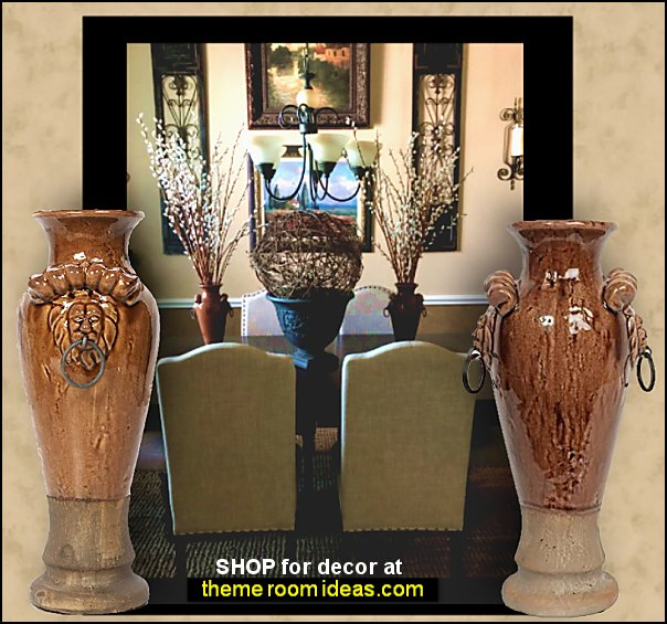 Tuscan Ceramic Vases tuscan dining room decor tuscany kitchen decorating grapes decorations tuscan wall art