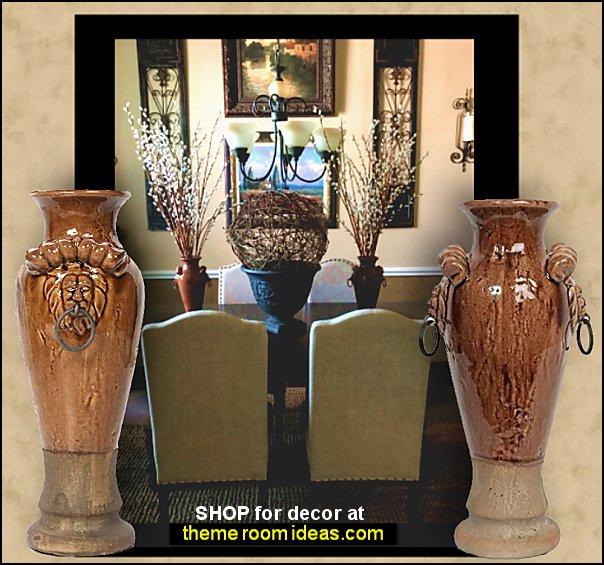 Tuscan Ceramic Vases tuscan dining room decor tuscany kitchen decorating grapes decorations tuscan wall art