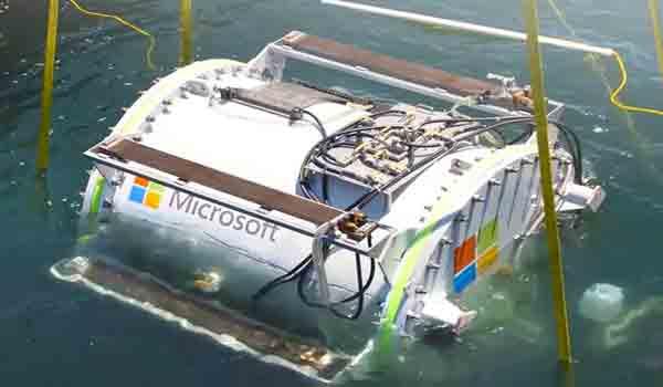 Centro de datos de Microsoft en el mar de Escocia.