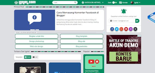 Situs Belajar Ngeblog - Kored ID