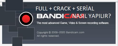 Ekran Video Kaydedici Bandicam Full - Crack - Serial | Youtuber