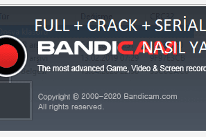 Ekran Video Kaydedici Bandicam Full - Crack - Serial | Youtuber