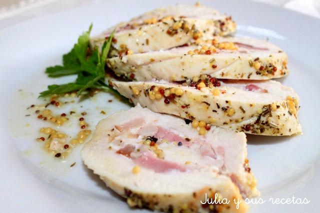 Pechugas de pollo a las finas hierbas. Julia y sus recetas