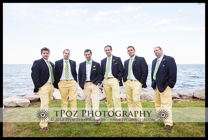 Groomsmen Gibson Island Wedding Yellow Pants