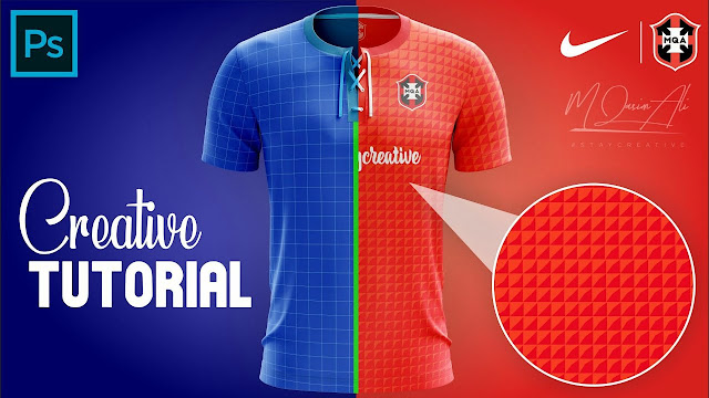 Creative Sports Shirt Design Tutorial in Photoshop cc 2019 by M Qasim Ali