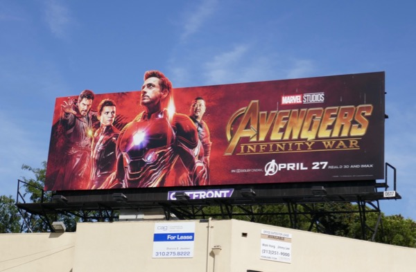 Avengers Infinity Dr Strange Spiderman Iron Man Wong billboard