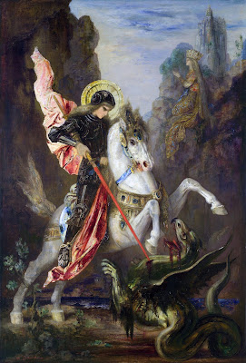 Saint George and the dragon painting joke
