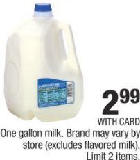 One gallon milk.