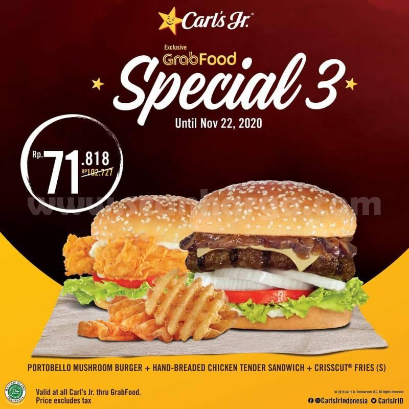 Carls Jr Promo Paket Spesial Pesan Antar via Grabfood 3