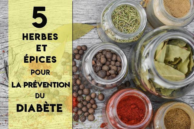 5 herbes et épices pour la prévention du diabète