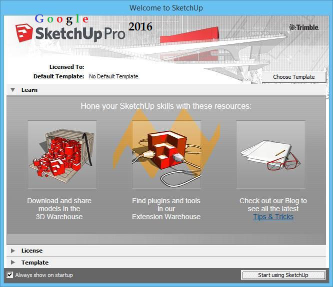 Download Software Full Version: SketchUp 2016 Pro With