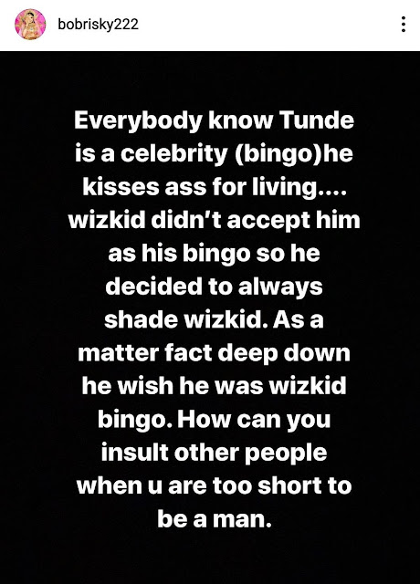 Bobrisky Drags Tunde Ednut On Twitter, Claims He Can Get Him Deported From The US