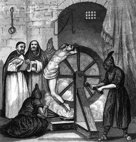 Inquisição, Inquisição Católica, Torturas da Inquisição, Torturas da Idade Média, Passado Negro do Cristianismo, A Roda do Despedaçamento