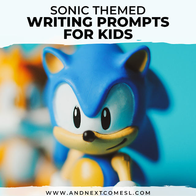 Free printable writing prompts for kids that are Sonic themed