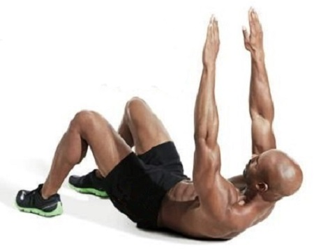 Arms-High Partial Sit-up