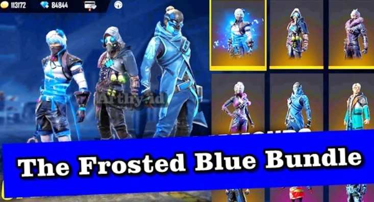 Frosted Blue Bundle in Free Fire