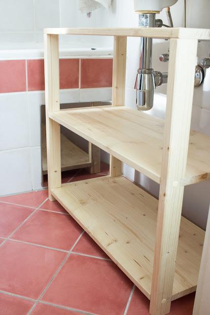 DIY | Waschbeckenregal für das Badezimmer bauen