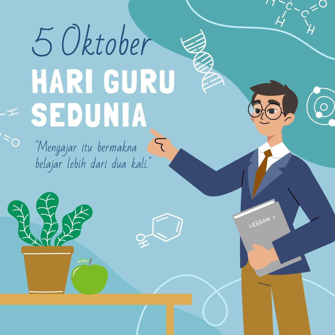 Poster Gambar Ucapan Selamat Hari Guru Sedunia