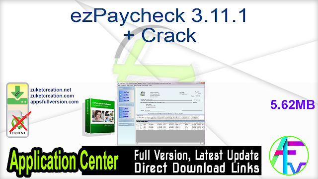 ezPaycheck 3.11.1 + Crack