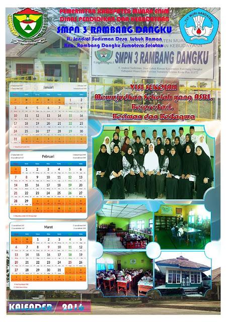 gambar contoh desain kalender sekolah lembar 1