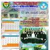 Contoh Desain Kalender Sekolah Sederhana 4 Lembar