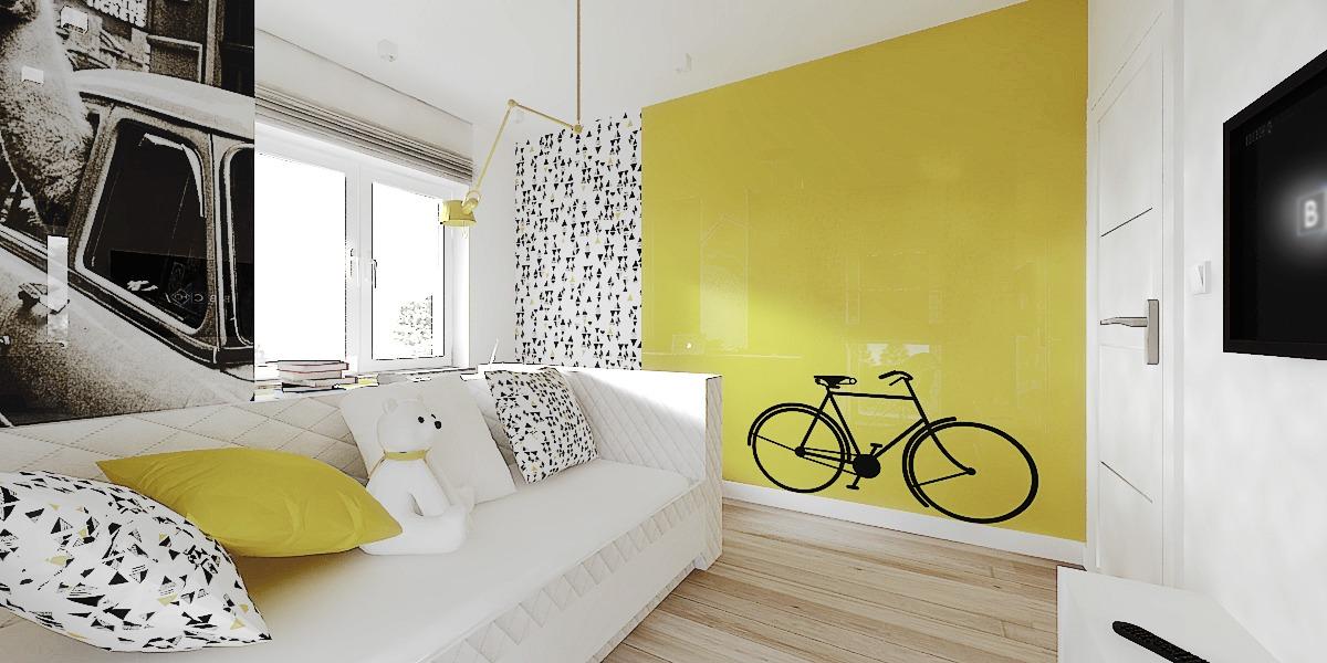 3e2ae767ca5 Απλές γραμμές και ταπετσαρία δημιουργούν ένα δωμάτιο με παιχνιδιάρικη  διάθεση αλλά και σοφιστικέ αστική ατμόσφαιρα.