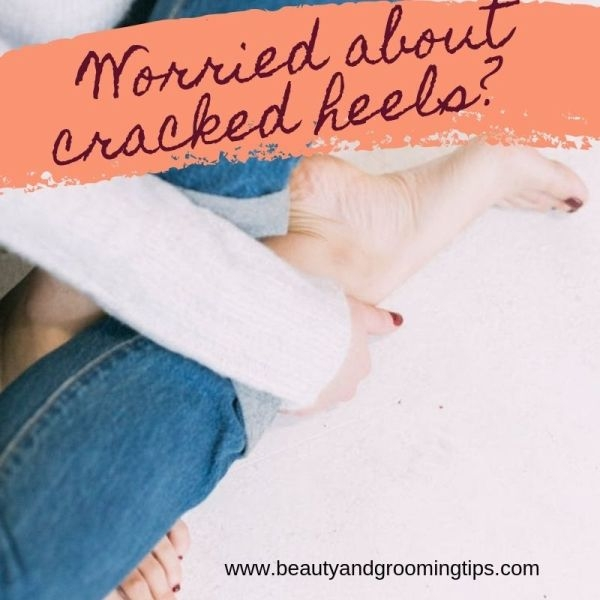 woman worried about cracked skin on her heels
