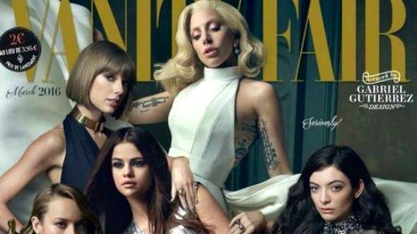 Lady Gaga, Taylor Swift, Selena Gomez y Lorde son la portada de Vanity Fair.