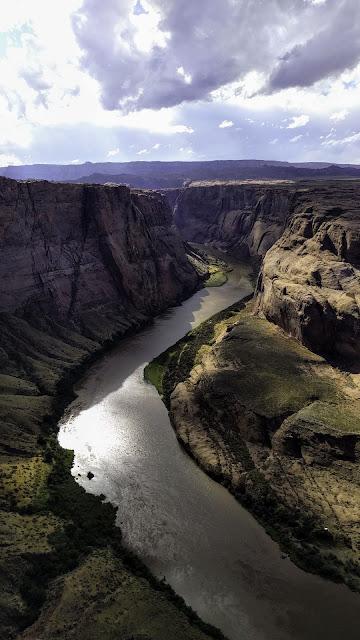 River HD, Canyon, Rocks, Aerial view
