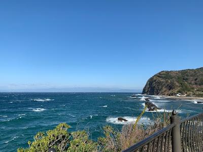 旅人岬展望所から見た景色