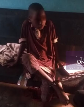 nigerian boy chained grandma