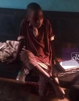 nigerian boy chained grandma