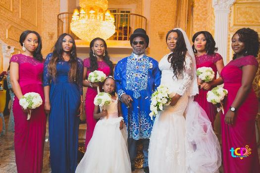 Photos from Ateke Tom's daughter's white wedding