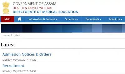DME, Assam Recruitment 2020 : Apply For 484 Staff Nurse (Critical Care) Post Vacancy