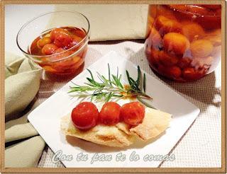 Tomates cherry confitados