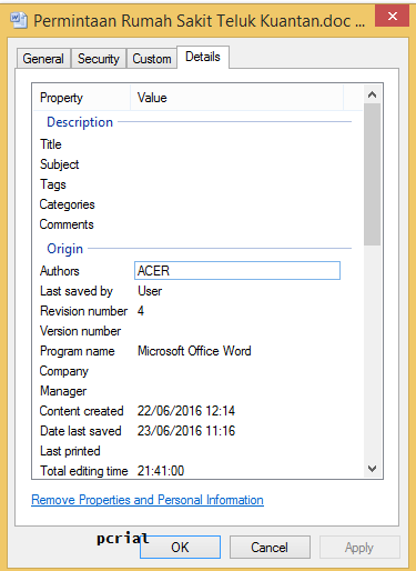 how to change author name on microsoft word