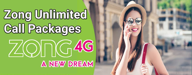 zong unlimited call package daily,weekly,monthly